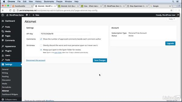 Fight comment spam: WordPress: Developing Secure Sites