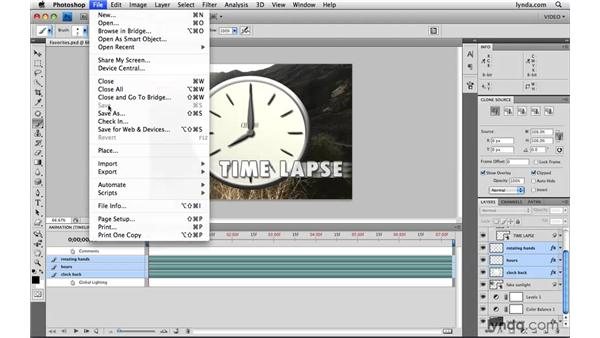 Using favorites: Photoshop CS4 Extended for Video