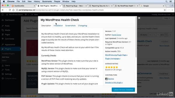 Find and report vulnerabilities: WordPress: Developing Secure Sites