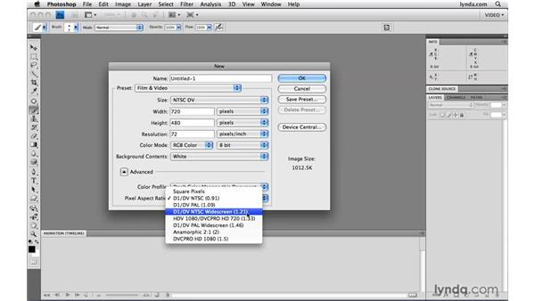 Creating new video documents: Photoshop CS4 Extended for Video