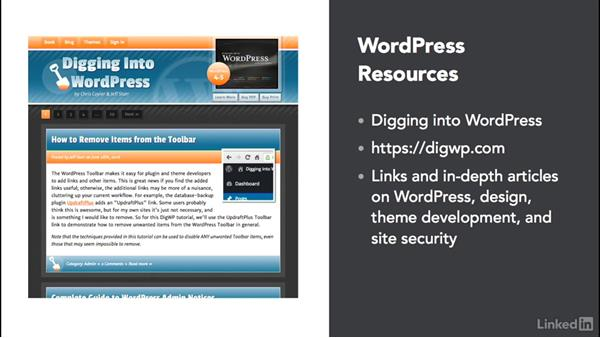 Next steps: WordPress: Developing Secure Sites