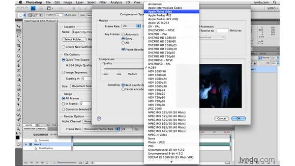 Exporting video from Photoshop: Photoshop CS4 Extended for Video