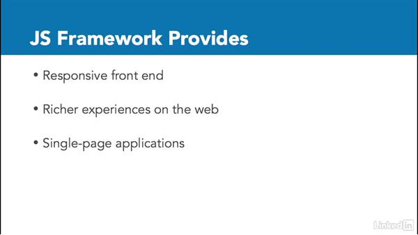 Why choose a JS front-end framework?: Ember.js Essential Training