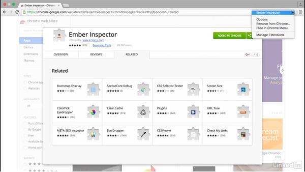 Install the Ember.js Inspector: Ember.js Essential Training