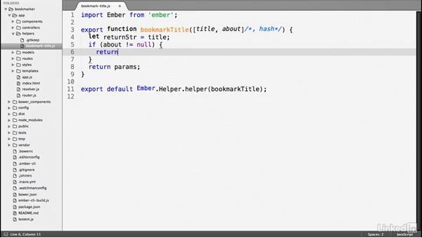 Ember.js helper: Ember.js Essential Training