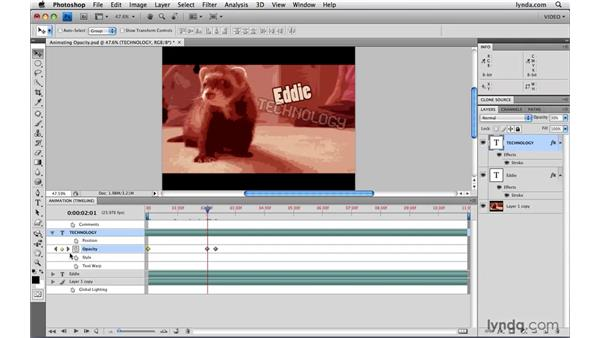 Animating opacity: Photoshop CS4 Extended for Video