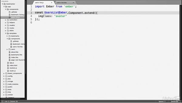 Component properties: Ember.js Essential Training