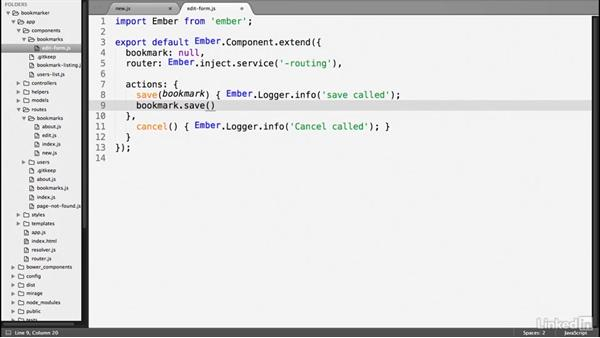 Create a new record: Ember.js Essential Training