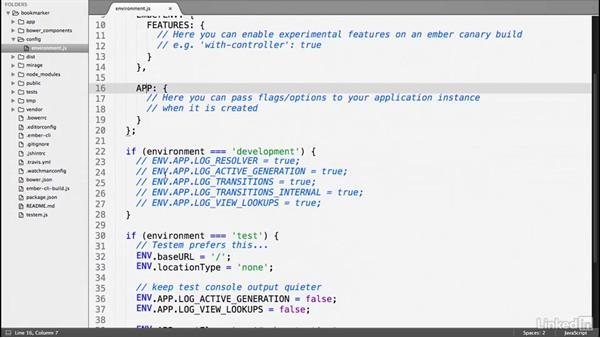 Configure an Ember.js application: Ember.js Essential Training
