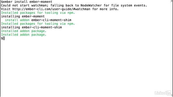 Install an Ember.js add-on: Ember.js Essential Training