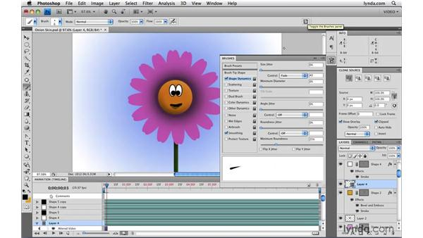 Using onion skinning: Photoshop CS4 Extended for Video