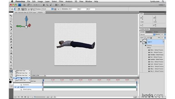 Importing 3D objects: Photoshop CS4 Extended for Video
