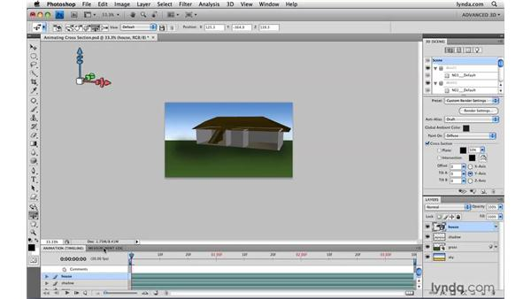 Animating cross sections: Photoshop CS4 Extended for Video