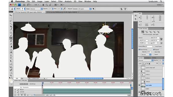 Filling holes with cloning: Photoshop CS4 Extended for Video