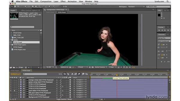 Animating the project in After Effects: Photoshop CS4 Extended for Video