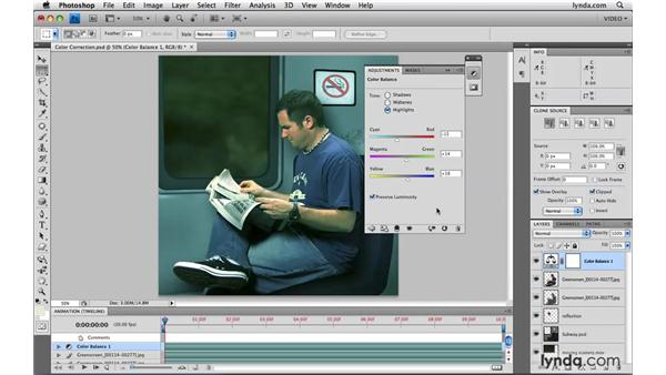 Improving composites with color correction: Photoshop CS4 Extended for Video
