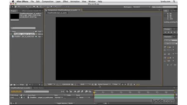 Why use After Effects?: Photoshop CS4 Extended for Video