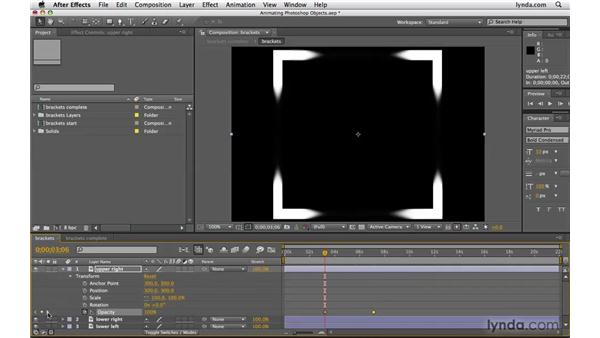 Animating Photoshop objects in After Effects: Photoshop CS4 Extended for Video