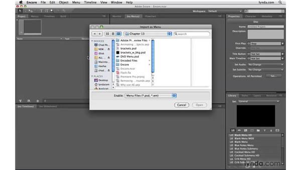Creating DVD menus for Adobe Encore: Photoshop CS4 Extended for Video