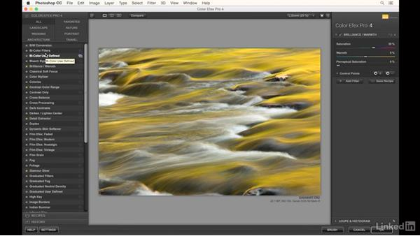 Editing a water image to bring out fall color: Landscape Photography: Autumn