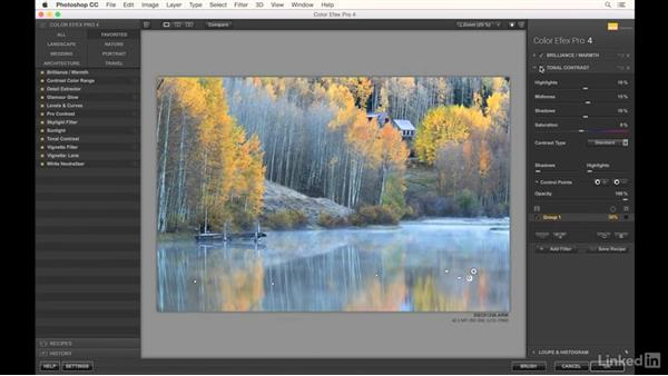 Editing a photograph of reflections: Landscape Photography: Autumn