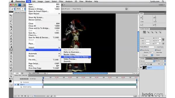 Previewing video on an external monitor: Photoshop CS4 Extended for Video
