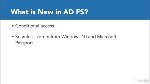 AD FS improvements: Windows Server 2016: New Features