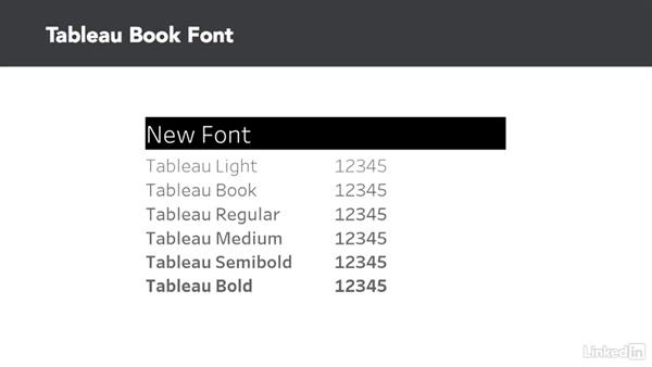 Tableau Book font: Tableau 10 New Features