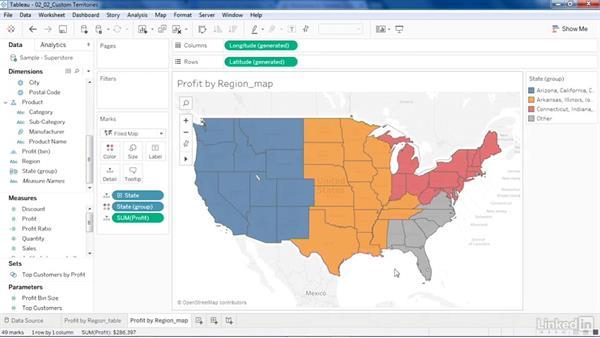 Create custom map regions: Tableau 10 New Features