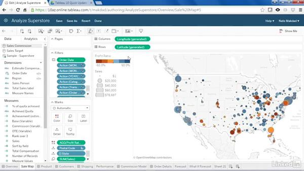 Web authoring: Tableau 10 New Features