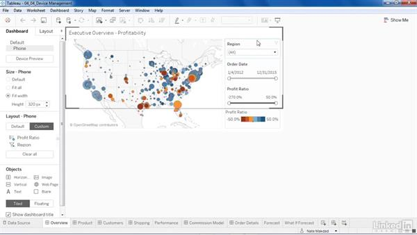 Mobile design in dashboards : Tableau 10 New Features
