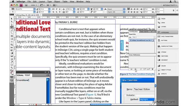 Creating a go-to-page link: InDesign CS4: 10 Things to Know About Interactive PDFs