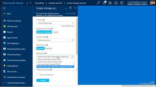 Creating virtual storage: Plan a Microsoft Cloud Solution