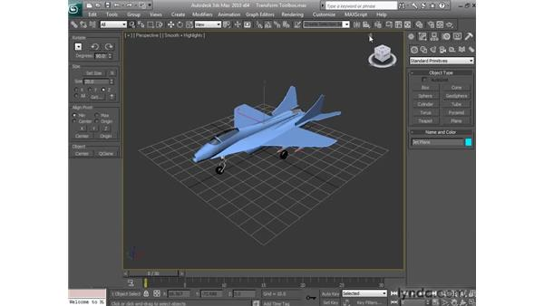 Using the Transform toolbox: 3ds Max 2010 New Features
