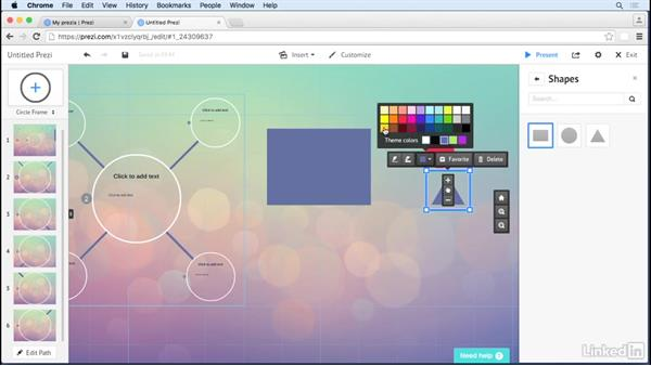 Move and group multiple objects: Prezi Tips and Tricks