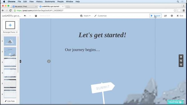 Use invisible frames to reduce clutter: Prezi Tips and Tricks