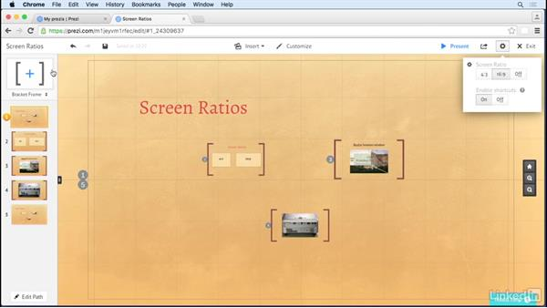 Use the screen ratio guides: Prezi Tips and Tricks