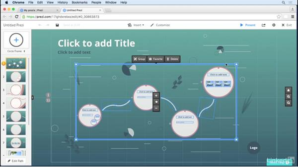 Use favorites to save and reuse content: Prezi Tips and Tricks