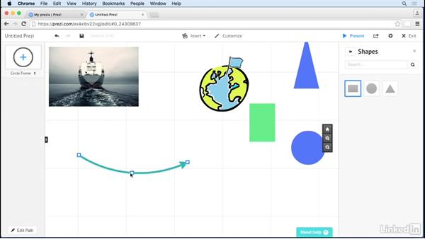 Use lines and arrows: Prezi Tips and Tricks