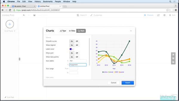 Create charts from spreadsheets: Prezi Tips and Tricks
