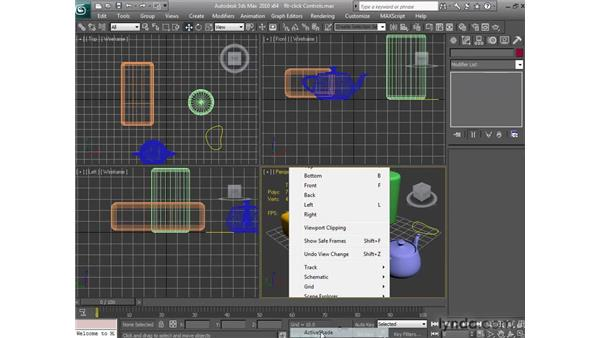 Using right-click controls: 3ds Max 2010 New Features
