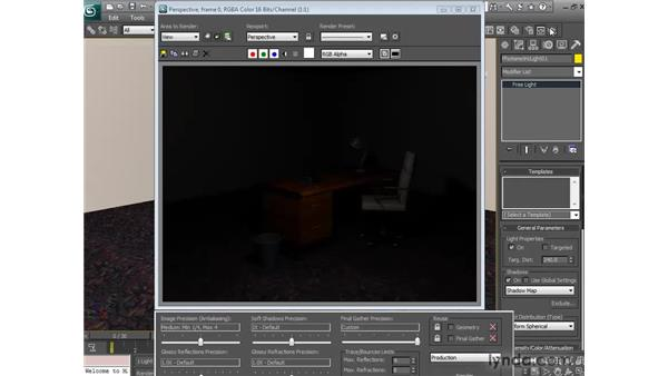 Previewing soft shadows: 3ds Max 2010 New Features