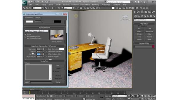 Using exposure controls: 3ds Max 2010 New Features