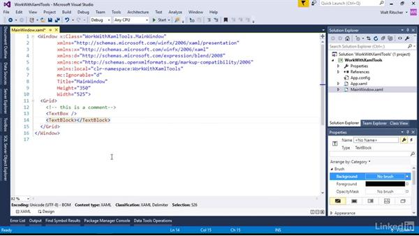 Work with the Visual Studio XAML tools: Microsoft XAML Fundamentals 1: Core Concepts
