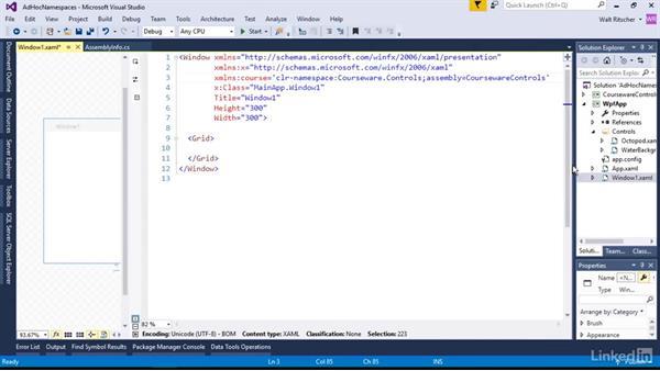 Ad hoc namespaces: Microsoft XAML Fundamentals 1: Core Concepts