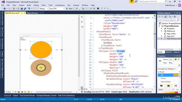 Property elements: The alternative to property attributes: Microsoft XAML Fundamentals 1: Core Concepts