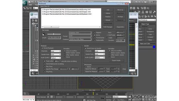 Adding multiple soundtracks using ProSound: 3ds Max 2010 New Features
