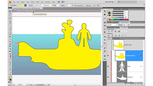 Editing a compound shape: Illustrator CS4 One-on-One: Advanced