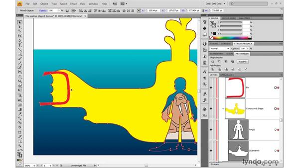 Adding to a compound shape: Illustrator CS4 One-on-One: Advanced