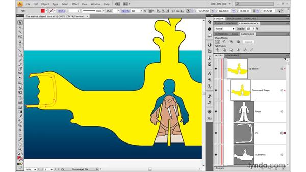 Inserting a subpath into a compound shape: Illustrator CS4 One-on-One: Advanced